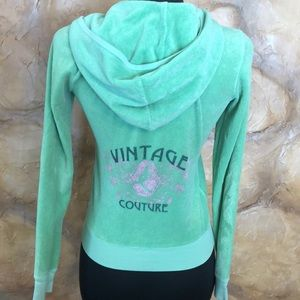 Juicy Couture Awesome Green terry hoodie